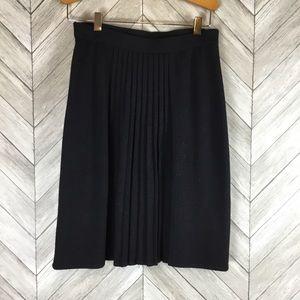 St John Pleated Wool Skirt 4